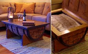 whiskey barrel side table 70 incredibly unique coffee tables awesome stuff 365