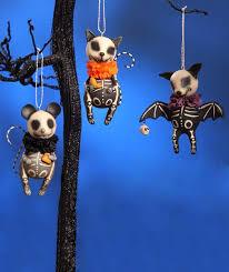 skelly animal ornaments rat cat bat skeleton leeann
