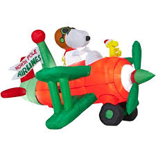 peanuts airblown inflatables airblown snoopy flying ace
