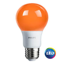 philips home decorative lights philips 60w equivalent orange a19 led light bulb 463232 the home