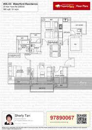 Waterford Residence Floor Plan | waterford residence 23 kim yam road 2 bedrooms 980 sqft