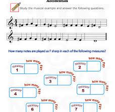 accidental worksheet for beginners accidentals pinterest