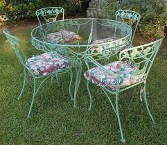 fancy vintage wrought iron patio table and chairs 25 best ideas