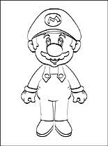 super mario printable coloring coloring pages