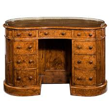 Kidney Shaped Writing Desk 19th Century Burr Walnut Kidney Shaped Desk For Sale At 1stdibs