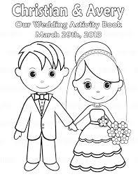 kids wedding activities fancy wedding coloring books for children