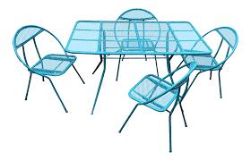 Vintage Woodard Patio Furniture - vintage salterini by rid jid folding patio set chairish