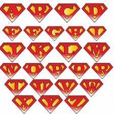 superman logo letters del padre