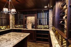 architecs contemporary wine cellar lighting with nickel