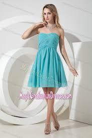middle school graduation dresses turquoise sweetheart middle school grad dresses with ruche