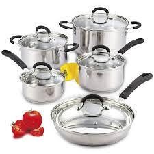 lybra stainless steel 32 piece cookware set walmart com