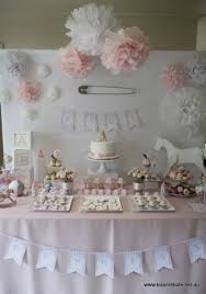 17 baby pink and white 27 super cute baby shower decorations