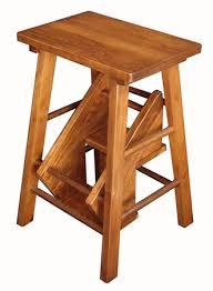 wooden folding step stool folding kitchen step stool amish