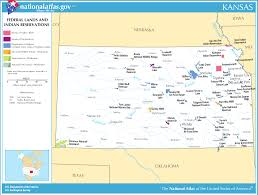 Map Of Kansas City Map Of Kansas Map Federal Lands And Indian Reservations