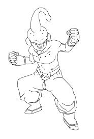 kid buu coloring pages eson me