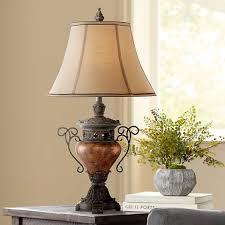 Urn Table Lamp Large Bronze Crackle Urn Table Lamp T4572 Lamps Plus