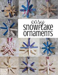 easy popsicle stick snowflake ornaments for preschoolers feels