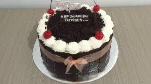 blackforest cake decorating how to make birthday cake