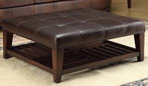 best top grain leather cocktail ottoman u2014 review bounce