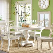 Distressed White Table Riverside Placid Cove Round Dining Table Hayneedle