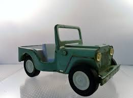 jeep toy vintage late 1960 u0027s tonka toy pressed steel lime green jeep