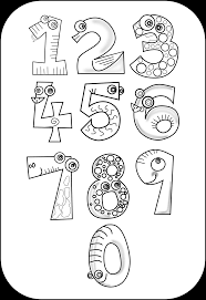 number clipart black and white many interesting cliparts