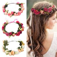 headband flowers women bezel flowers crown bridal floral headband wreath headband