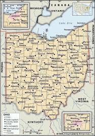 ohio map of cities ohio flag facts maps points of interest britannica com