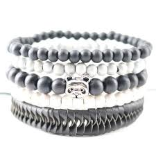 skull bracelet charm images The double charm skull bracelet todaytopdeals jpg