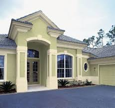 Home Exterior Decor Cool Image Of Home Exterior Decoration With Pastel Green Exterior