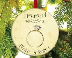 engagement tree ornaments lights decoration