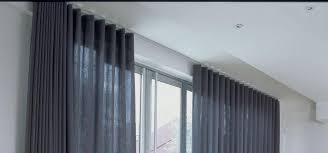 Curtains Hanging From Ceiling by Slim Line Powder Coated Aluminum Curtain Tracks Motorized And