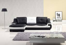 Modern Gray Leather Sofa by Be Simple Yet Modern With These Black And White Living Room Sets