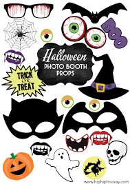 halloween photo booth props printable pdf printable printed halloween invites stationery