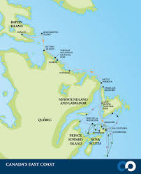 map canada east coast canada s east coast adventure cruises one expeditions