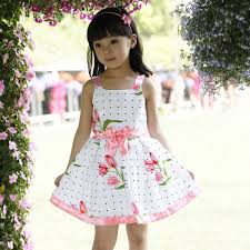 cute toddler baby girls flower cotton dress kids summer party