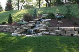 Terraced Retaining Wall Ideas by A Perfect Hillside Addition Ponds Waterfalls Pools Pinterest