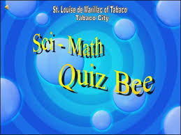 quiz bee powerpoint template with timer metlic info