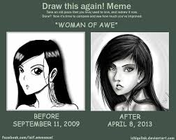 Awe Meme - draw this again meme woman of awe by ichigolink on deviantart