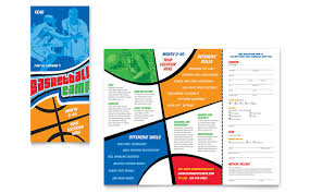 publisher brochure templates basketball sports c brochure template word publisher