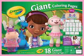 giant coloring pages doc mcstuffins crayola