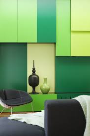 black bedroom color interior wall with wall painting decoration