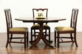 sold cherry traditional vintage oval dining table sunburst top