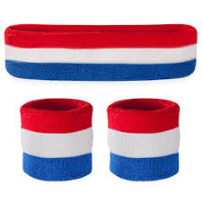 white blue sweatband sets suddora
