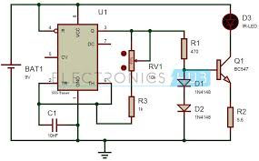 tv remote control jammer circuit using 555 timer ic