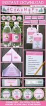 trampoline invitations pink camping party printables invitations u0026 decorations