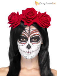 day of the dead headband day of the dead sugar skull roses flower mexican headband fancy