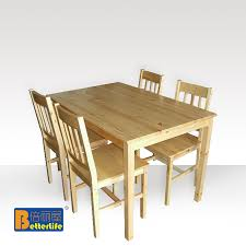 ikea dining table dinette table and four chairs rice combination