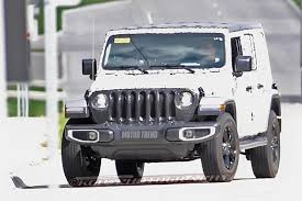 Jeep Spy Shots Spied Next Jeep Wrangler Caught Nearly Undisguised Motor Trend