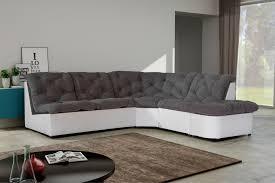 canapé angle gris blanc canapé d angle modulable en tissu gris blanc daniela canapé d